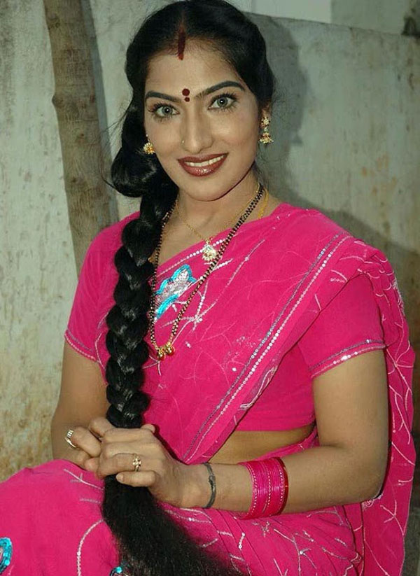 Pravallika Aunty Long Hair Hot Pictures  Hot Actress -8193
