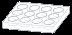 細胞培養プレートのイラスト(12ウェル)