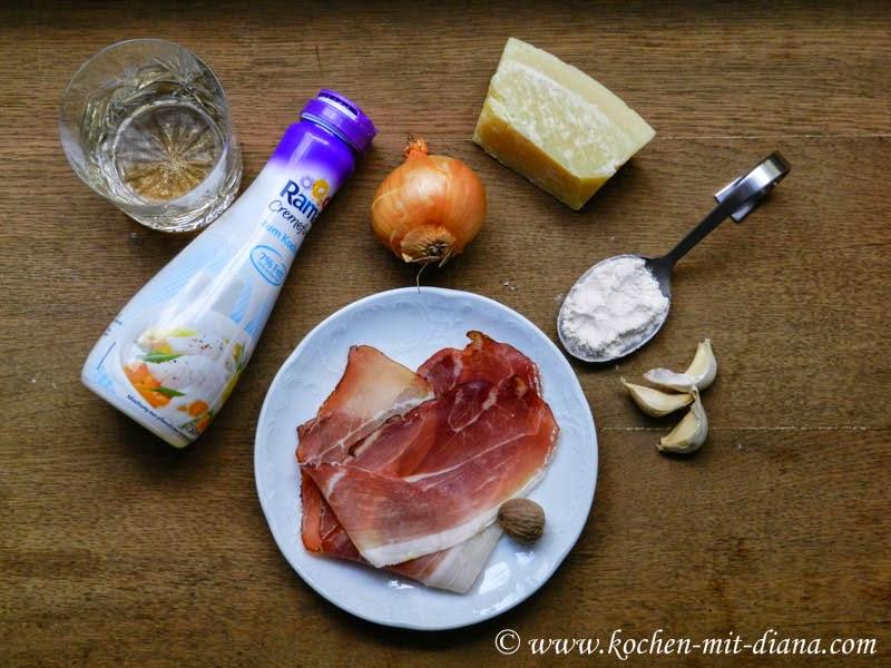 Zutaten Parmesansuppe
