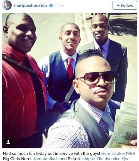 U.S Singer, Marques Houston Converts to Jehovah's Witness, Goes Door-to-door Preaching (Photos)