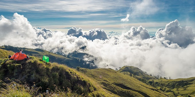 Trekking Mount Rinjani package 2 days 1 night start climb from Senaru
