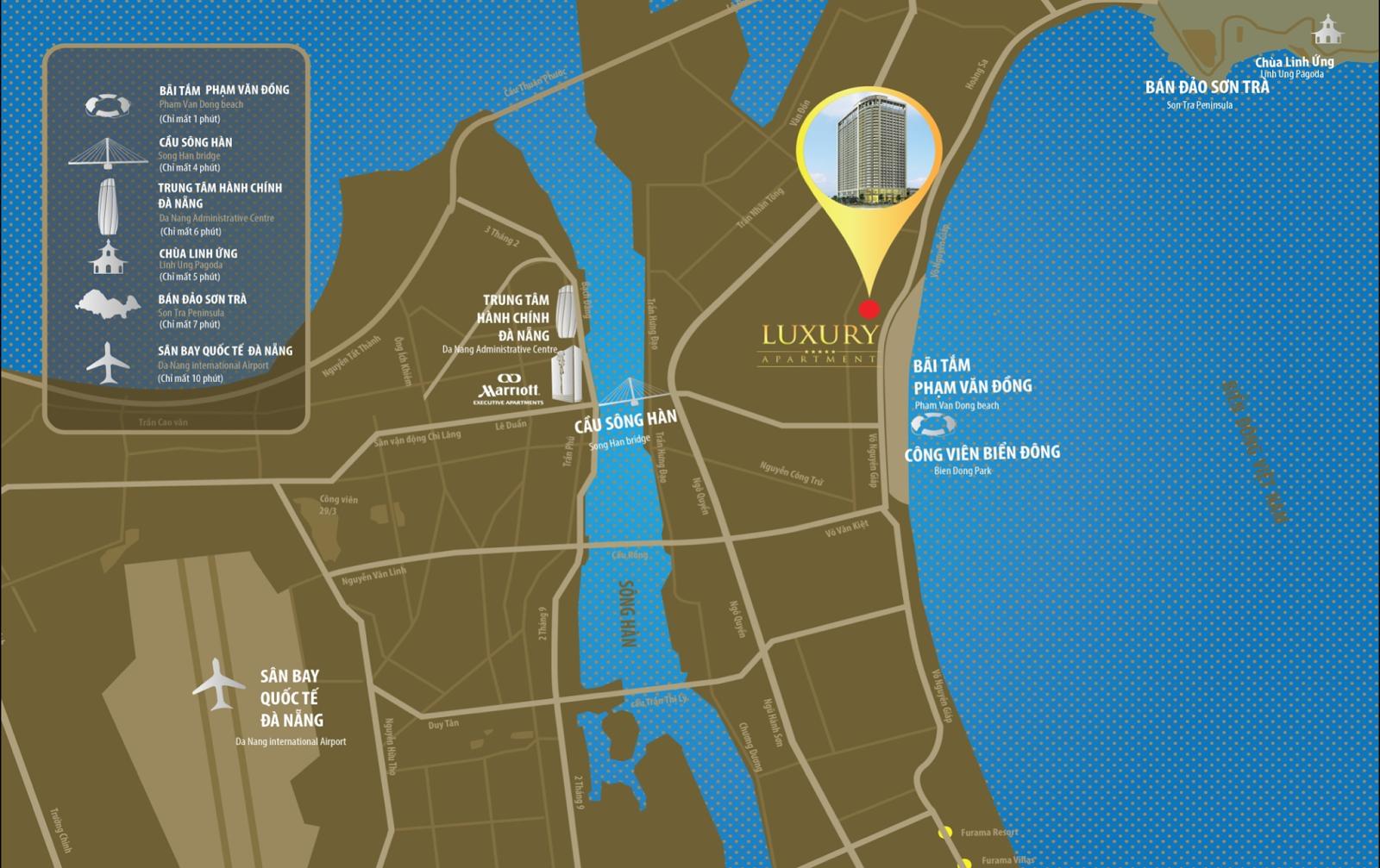 Luxury Apartment nằm ngay mặt biển Mỹ Khê Đà Nẵng