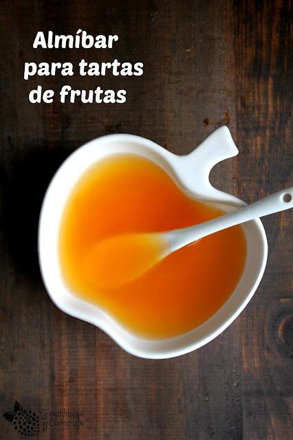 Almibar para tartas de frutas