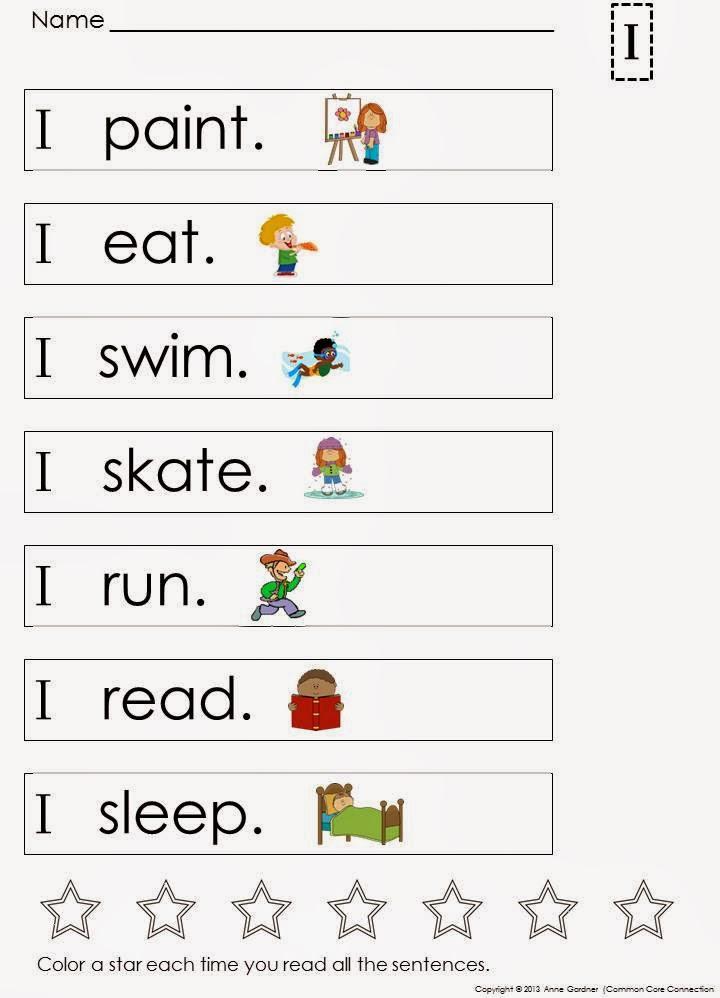 i - Simple Sentence For Kindergarten