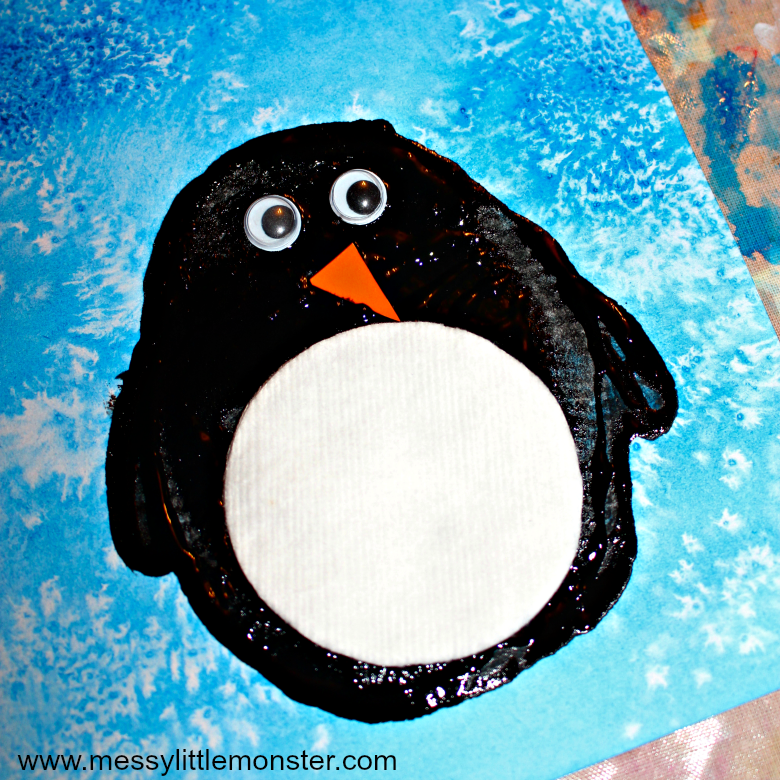 Easy Penguin Craft For Kids Potato Print Penguin Art Using A Fun Art Process Idea