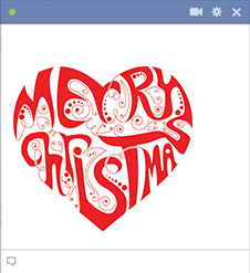 Merry Christmas Heart for Facebook