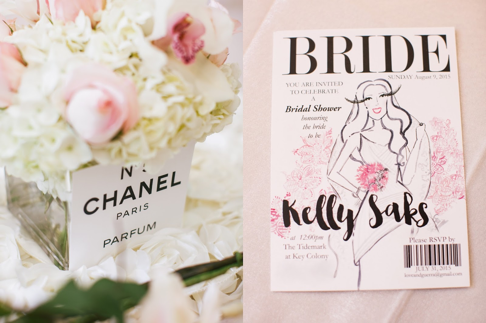 My trs chic bridal shower kelly saks bridal shower fashion magazine invitation filmwisefo