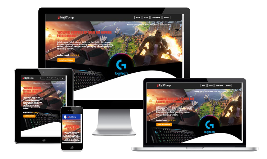 LogiComp Blogspot Template landing Page