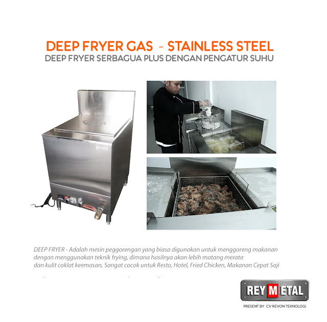 Deep Fryer Gas Stainless Steel (Fried Chicken, French Fries, Nugget)
