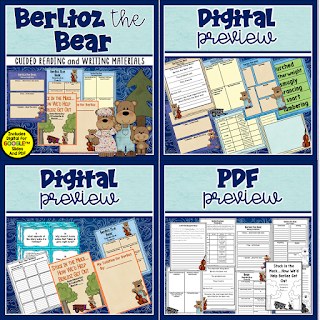 Belioz the Bear is a Jan Brett classic It is perfect for the perfect book for guided reading or as a mentor text. Check out this post for details of what's included in this unit bundle
