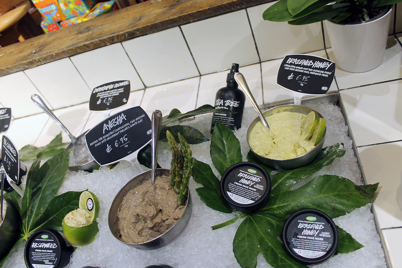 Lush face masks, Lush blogger event