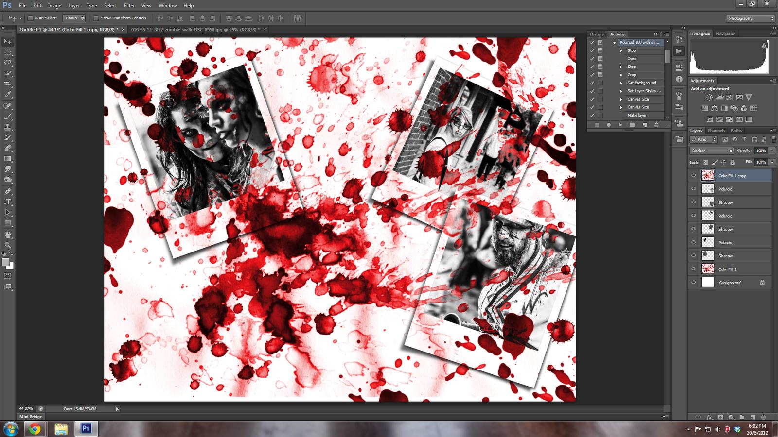 Zombie Blood Splatter ...
