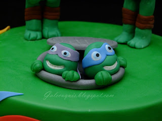 tarta fondant tortugas ninja