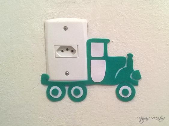 interruptor decorado carrinho