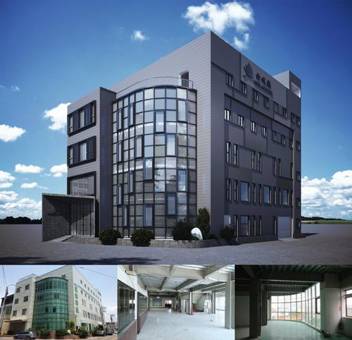 金瑞盛廠辦改造案,將舊大樓外觀拉皮、內裝重新設計,創意巧思無限多!