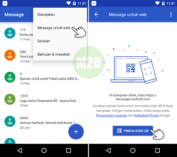 Aplikasi Android Messages