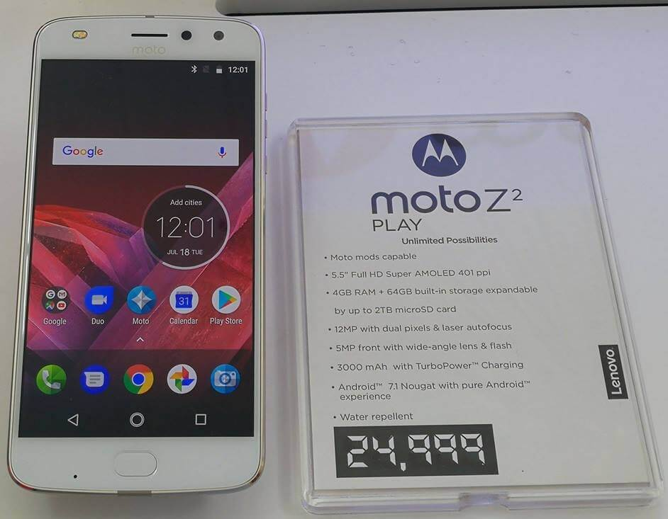 Moto Z2 Play Launches in PH for Php24,999; Available Starting July 21st