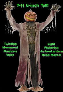 Spooky TALKING GIANT CORN STALKER Animated Halloween Haunt Prop