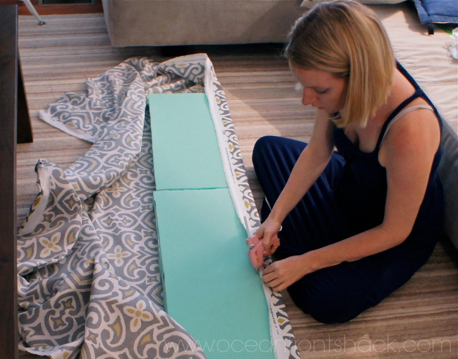 diy bench cushion ocean front shack. Black Bedroom Furniture Sets. Home Design Ideas