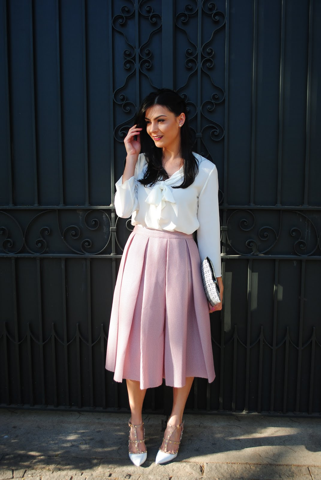Romwe skirt - Blog Cris Felix