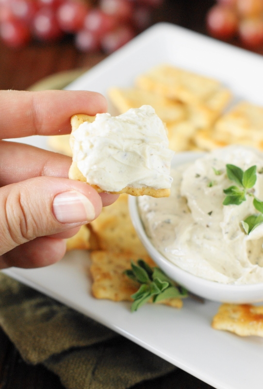 Homemade boursin cheese spread the kitchen is my playground easy to make savory boursin cheese spread beautifully flecked with herbs and black solutioingenieria Gallery