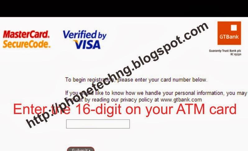 How I got my Gtbank Mastercard Secure Code | INTERNET TUTORIAL