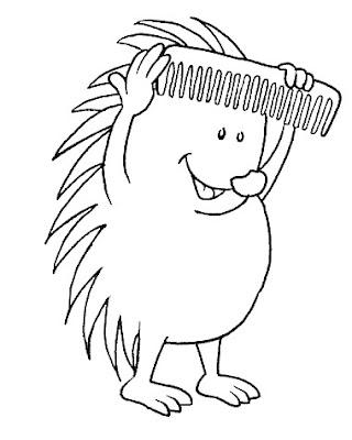 Hedgehog coloring page 9