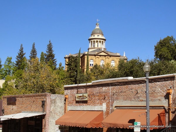 Placer Country Courthouse seen from Old Town Auburn, California