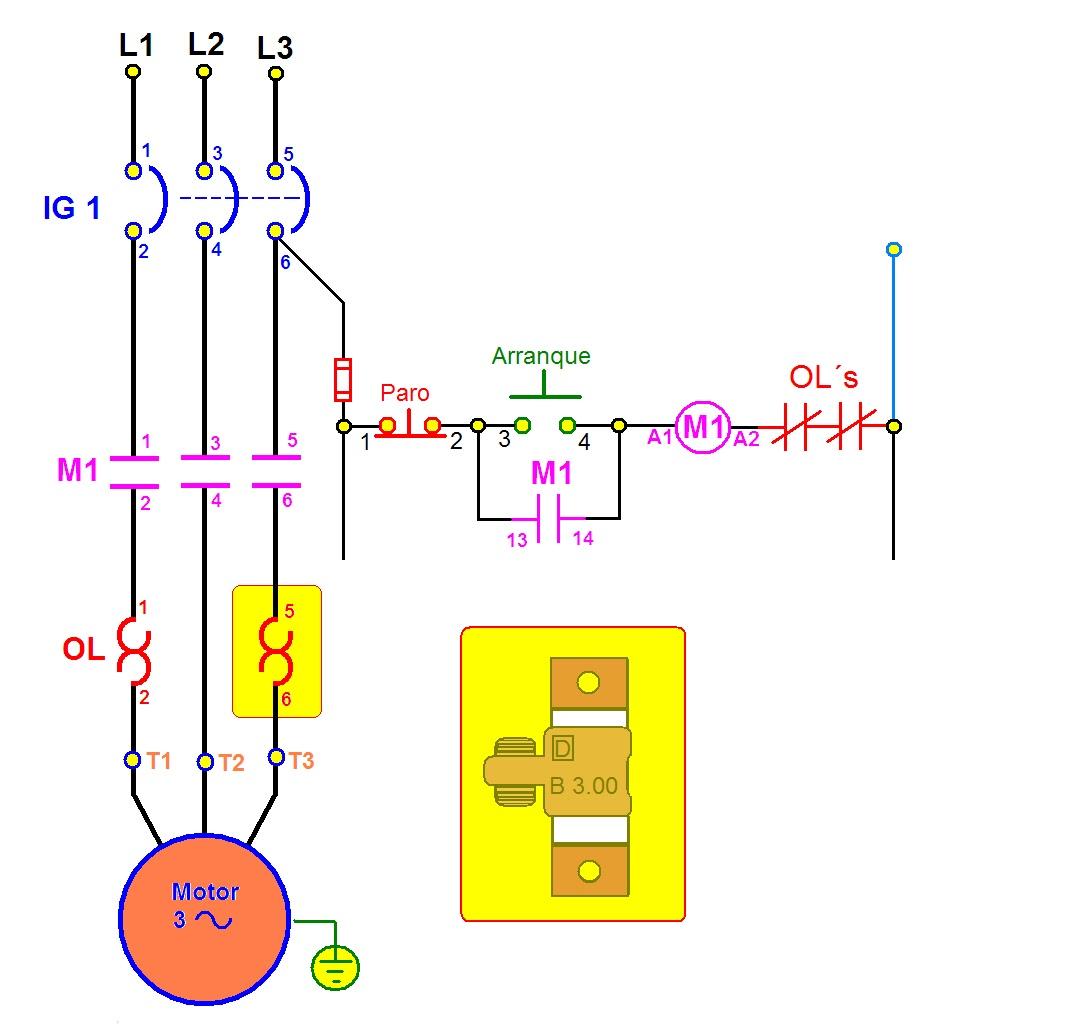 coparoman     Diagramas    con rel   de sobrecarga t  rmico
