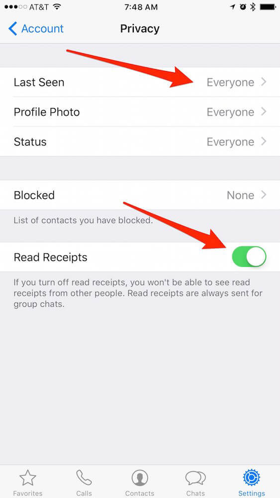 كيفية اخفاء اخر ظهور لك على واتس اب WhatsApp
