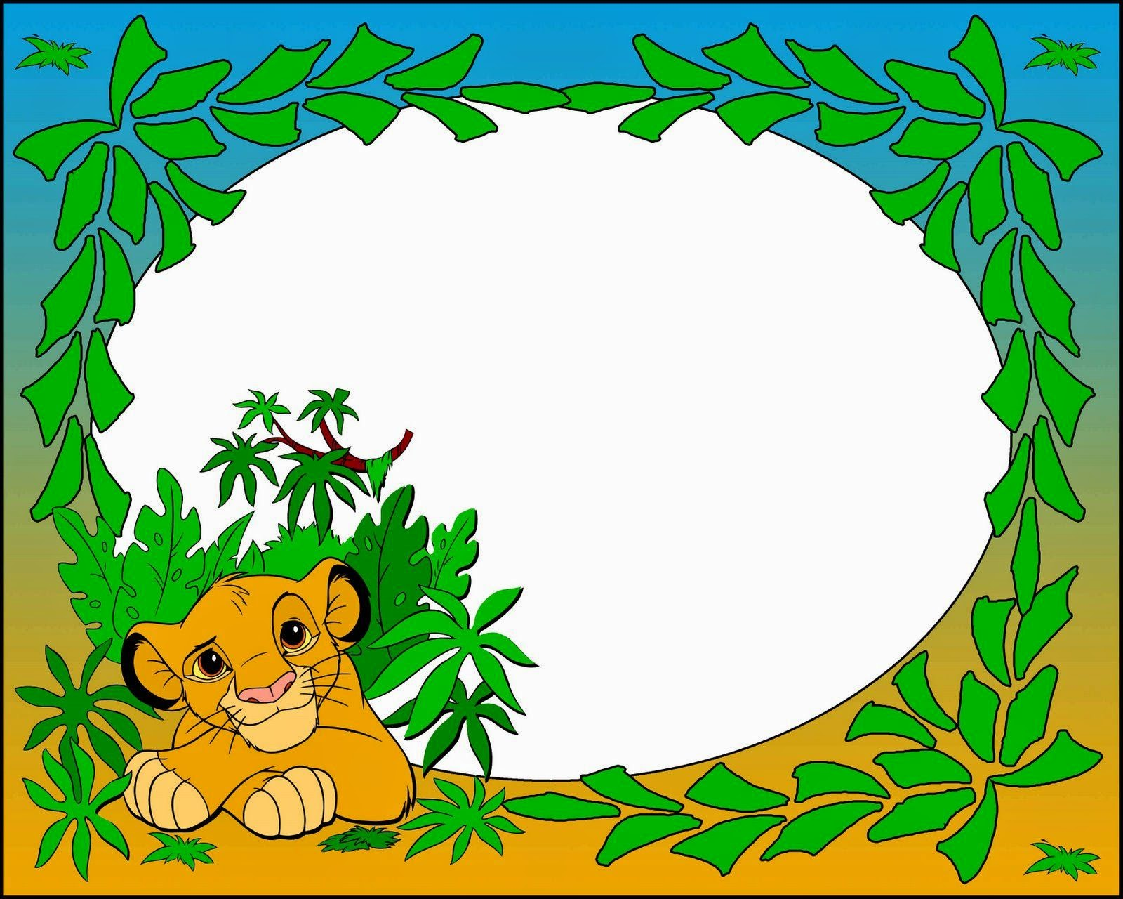 The Lion King Free Printable Invitations Backgrounds Or
