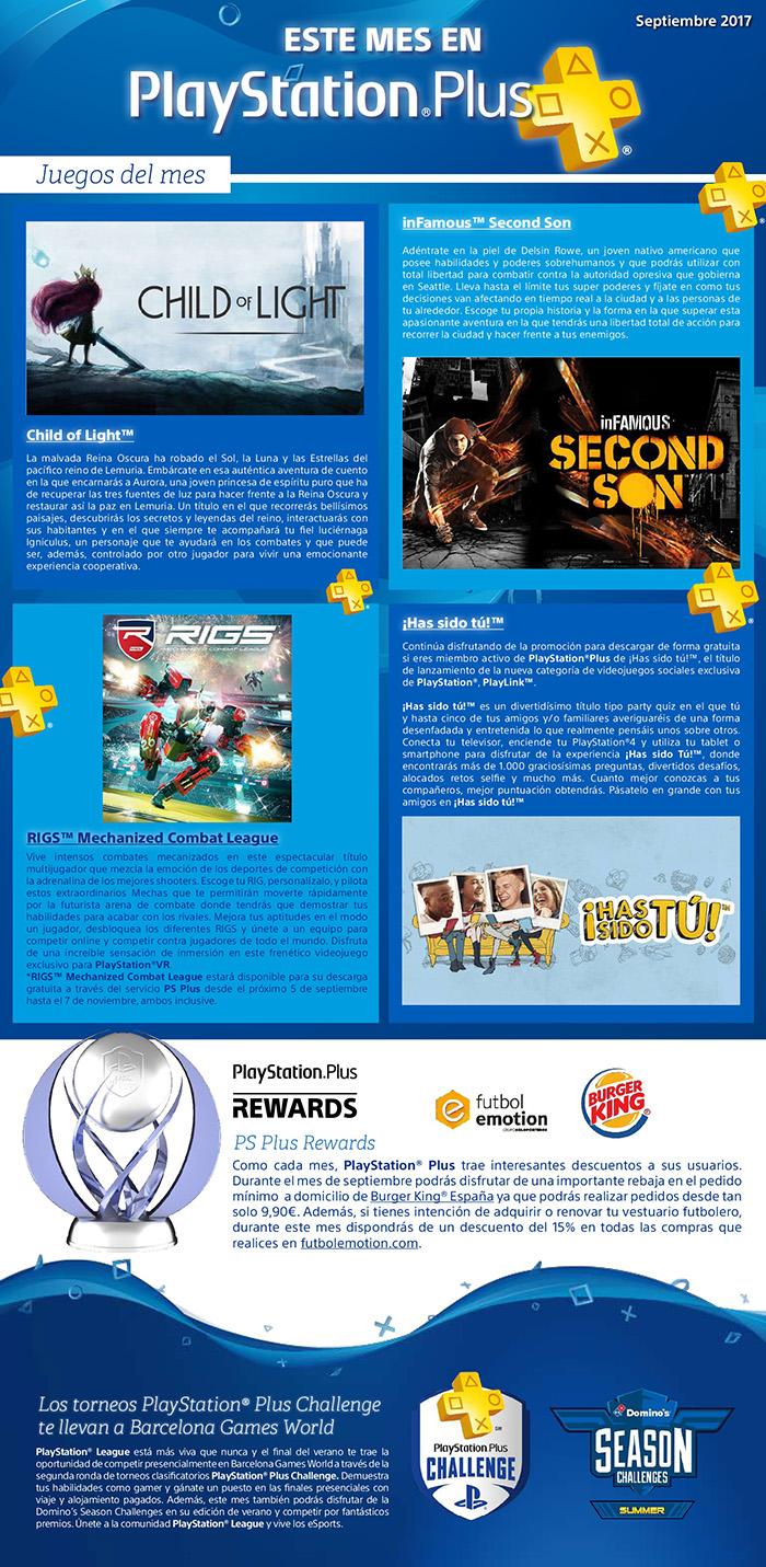 Juegos PSN + de septiembre y todas sus novedades