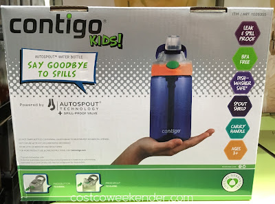 Costco 1026355 - Keep your kids hydrated with the Contigo Gizmo Kids Autospout Water Bottle