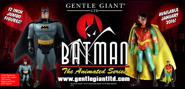 "Coming Soon: Batman: The Animated Series 12"" Jumbo Vintage DC Comics Action Figures by Gentle Giant"
