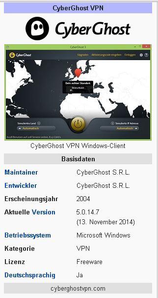 Ficha Técnica CyberGhost VPN