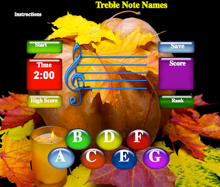 Treble Note Names: LadyDpiano