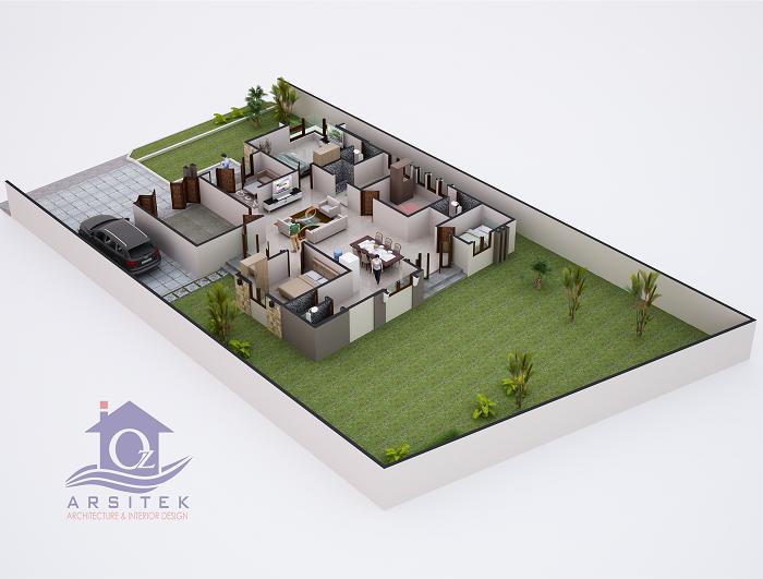 Desain Rumah Ibu Qory di Kalimantan Selatan