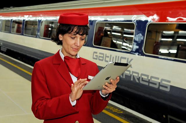 Trem Gatwick Express em Londres