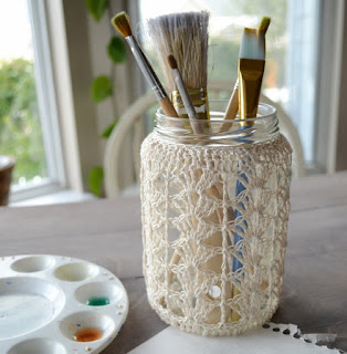 Crochet Jar by Over The Apple Tree