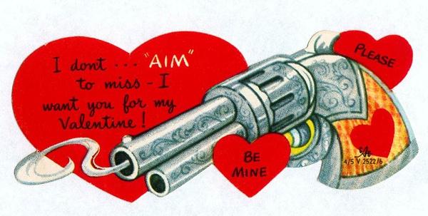 Mystery Fanfare Retro Valentine\u0027s Day Cards Shoot \u0027em  Book \u0027em