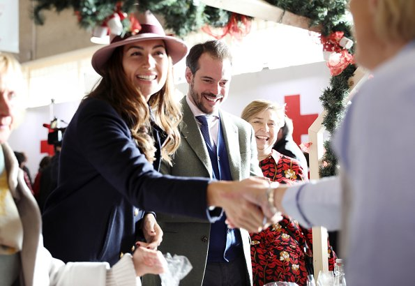 Prince Felix and Princess Claire of Luxembourg visited the annual bazaar of the Luxembourg Red Cross at Hall Victor Hugo in Limpertsberg