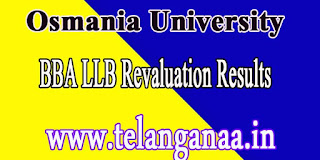 Osmania University BBA LLB Feb 2016-Revaluation Results