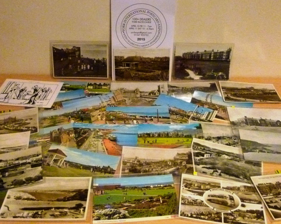 We picked up 31 minigolf postcards at the York CardExpo