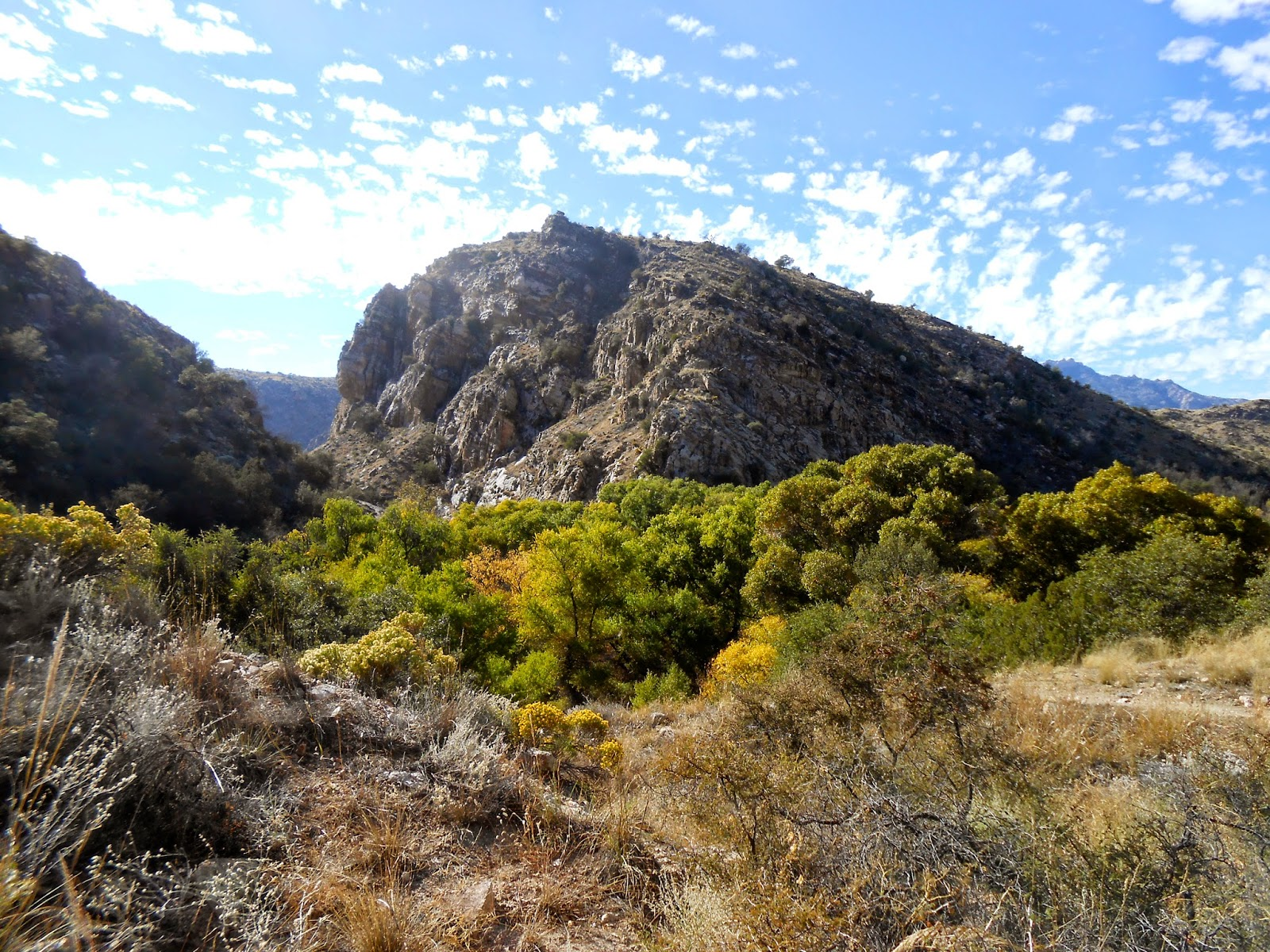 sycamore reservoir trail in the fall catalina mountains tucson arizona