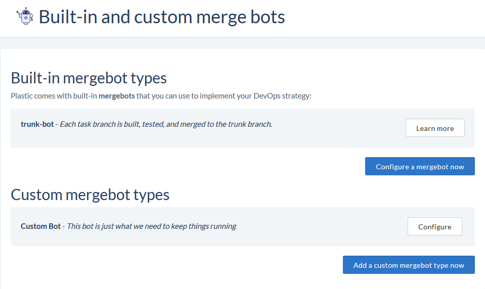 mergebot types