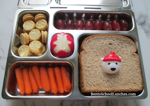 Polar bear theme school lunch