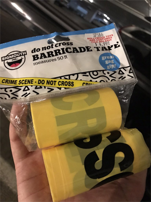 image of a package of crime scene tape