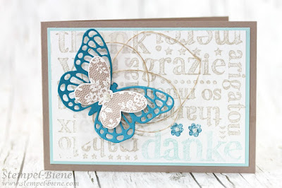 Stampin up Demonstrator, Vorteile Stampin Up Demonstrator, Geschenke für Demos, Team Stempel-Biene, Dankeskarte, Stampin Up A World of Thanks