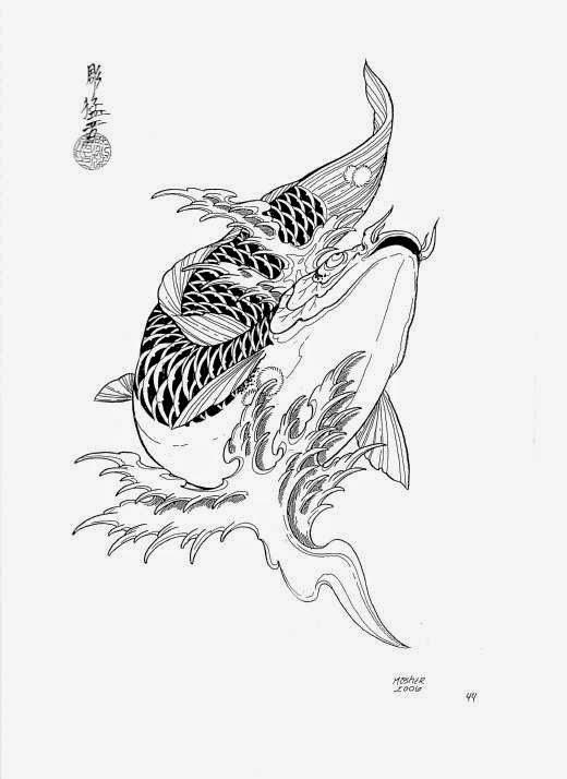 diseños de tatuajes de carpas