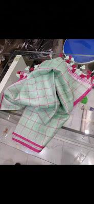 Adorable linen dupattas with Zari design, tissue linen, buti design, checks, shibori design, strap design